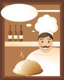 Invitation from the chef Stock Photography