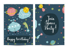 Invitation on Children Costumed Birthday Party Royalty Free Stock Photo