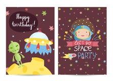 Invitation on Children Costumed Birthday Party Stock Image