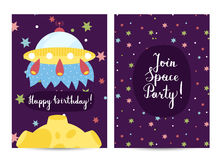 Invitation on Children Costumed Birthday Party Stock Photos