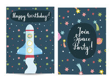 Invitation on Children Costumed Birthday Party Stock Photography