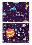 Invitation on Children Costumed Birthday Party Royalty Free Stock Images