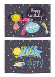 Invitation on Children Costumed Birthday Party Royalty Free Stock Photo