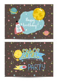Invitation on Children Costumed Birthday Party Stock Photo