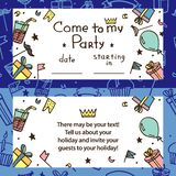 Invitation for children`s party vector illustration