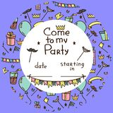 Invitation for children`s party royalty free illustration