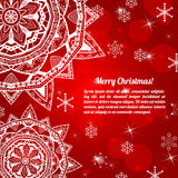 Invitation christmas card with abstract snowflakes Royalty Free Stock Photography