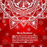 Invitation christmas card with abstract snowflakes Royalty Free Stock Photo