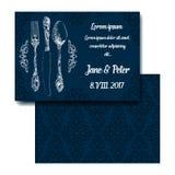 Invitation classique de partie d'argenterie Image stock