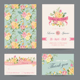 Invitation/Congratulation Card Set. For Wedding, Baby Shower - in vector Royalty Free Stock Images