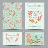 Invitation-Congratulation Card Set Royalty Free Stock Image
