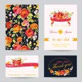 Invitation or Congratulation Card Set Royalty Free Stock Photos