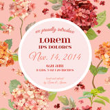 Invitation or Congratulation Card - for Wedding, Baby Shower Royalty Free Stock Photos