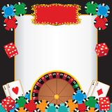 Invitation d'événement de réception de nuit de casino Image stock