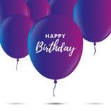 Invitation d'anniversaire Ballons de réception Vecteur illustration de vecteur