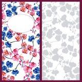 Invitation d'orchidées Image stock