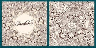 Invitation d'ornement floral illustration de vecteur