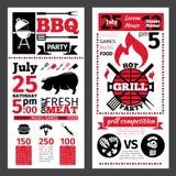 Invitation de barbecue Images stock