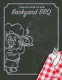 Invitation de BBQ de barbecue illustration stock