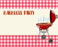Invitation de blanc de partie de barbecue illustration de vecteur