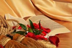 Invitation de célébrer la foi, symboles Images libres de droits