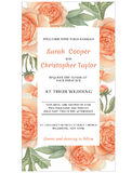 Invitation de carte d'invitation de mariage avec des fleurs d'aquarelle Photo stock
