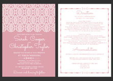 Invitation de carte d'invitation de mariage de vintage avec des ornements illustration stock