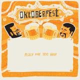 Invitation de carte postale, d'affiche, de fond, d'ornement ou de partie d'Oktoberfest Images stock