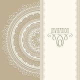 Invitation de cru Photo stock