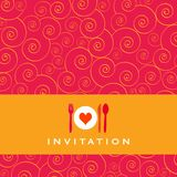 Invitation de dîner Image libre de droits