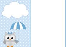 Invitation de douche de bébé garçon Photos stock