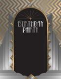 Invitation de fête d'anniversaire Photographie stock