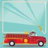 Invitation de fête d'anniversaire de Firetruck Image libre de droits