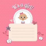 Invitation de fête de naissance pour la fille Photos stock