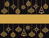 Invitation de fête de Noël Image stock