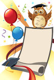 Invitation de graduation illustration stock