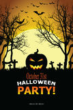 Invitation de Halloween Photographie stock libre de droits