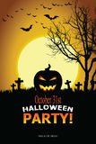 Invitation de Halloween Image stock