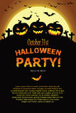 Invitation de Halloween Photo libre de droits
