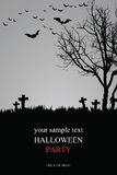 Invitation de Halloween Images libres de droits