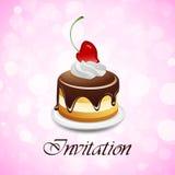 Invitation de jour de Valentines Photo stock