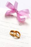 Invitation de mariage Images libres de droits