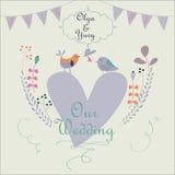 Invitation de mariage Photos stock