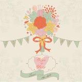 Invitation de mariage illustration de vecteur