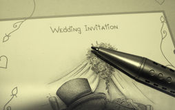 Invitation de mariage Photo stock