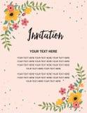 Invitation de mariage, carte de voeux Conception colorée d'illustration de calibre de fond de vecteur Images stock