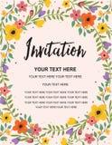 Invitation de mariage, carte de voeux Illustration colorée de calibre de fond de vecteur Photos stock
