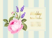 Invitation de mariage d'or Image libre de droits
