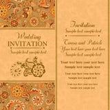 Invitation de mariage dans le style turc est, orange illustration de vecteur