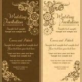 Invitation de mariage dans le style turc, orange brune illustration de vecteur
